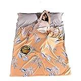 N / A Saco de dormir con funda de algodón, sábana de viaje, térmica, compacta, ligera, para hoteles, camping al aire libre