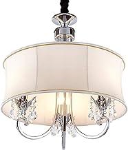 YUNTAOBeautiful Lighting City/Crystal Pendant Lamp Dining Table Lamp Modern Fabric Lampshade Interior Decoration Lamp Bedr...