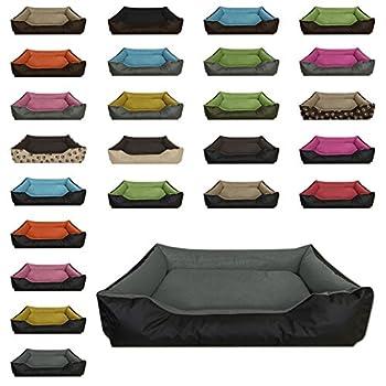 BedDog® lit pour Chien LUPI, Noir/Gris, XXL env. 120x85 cm,Panier Corbeille, Coussin de Chien