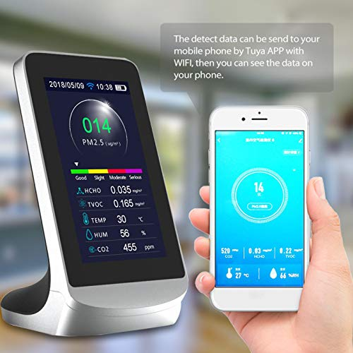 HUANGCHAO WiFi Indoor Multi-Function Air Detector Tvoc Gas Quality Monitor Co2 Carbon Dioxid Meter Mit 4.3 Inkh Air Analyzer Meter TYPE1