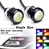 """Luci LED """"Eagle Eye"""" ad alta potenza, da 3W, con vite, per auto e moto, adatte come luci di retromarcia, luci LED di marcia diurna, luci di posizione"""