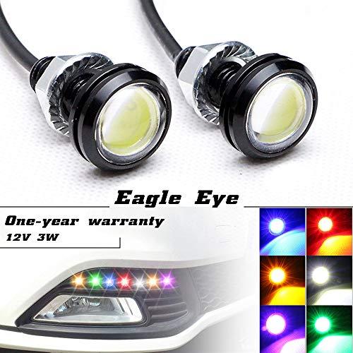 NSLUMO Hochleistungs 3w Eagle Eye Lampe LED Beleuchtung mit Schraube LED Auto Motorrad Rückfahrlicht Tagfahrlicht Standlicht(6 Stücke, Blau)
