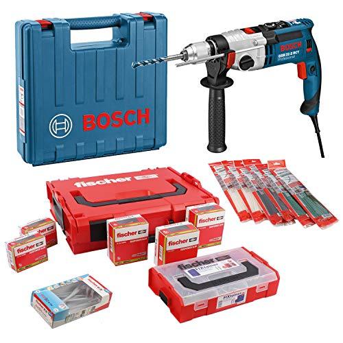 Bosch Schlagbohrmaschine GSB 21-2 RCT + Fischer Dübel- und Befestigungsset