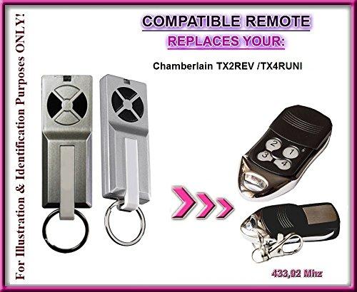 Chamberlain tx2rev/Chamberlain TX4RUNI/TX4-kompatible Fernbedienung, die Top Qualität Ersatz-Fernbedienung für beste Preis