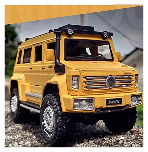 Modelo de automóvil Modelo 1:28 para Unimog U500 Modelo Multifuncional Multifuncional Off-Road Vehículos Aleación de automóvil Modelo de auto Puerta ligera abierta Pull Back Toy Coche para niños Regal