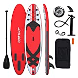 JOOLOOG Kids Paddle Board, 6 Inches Thick Inflatable Paddleboard For All Skill Levels With Sup Accessories & Carry Bag, Lightweight Paddle Non-Slip Deck,Hand Pump, Leash 10'X 32