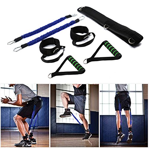 Wowelife Vertical Jump Trainer Equipment Bounce Trainer Gerät Bein Krafttraining Bands für Agility, Stärke Speed Fitness Basketball Volleyball Fußball, Blue-70pound