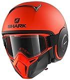 Shark Casco Jet Drak Street dimensioni Neon Nero Arancione, Taglia M