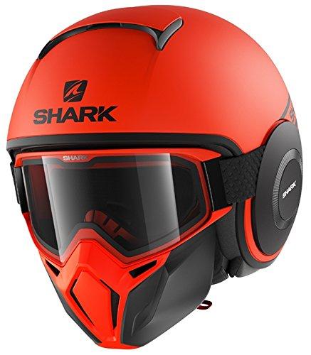 Shark Casco Jet Drak Street dimensioni Neon Nero Arancione, Taglia S