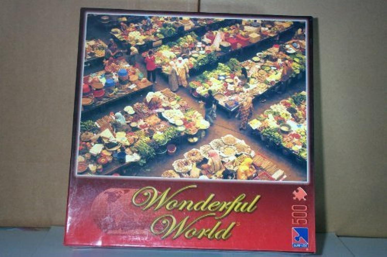 Wonderful World 500 Piece Kota Bharu Market, Malaysia Jigsaw Puzzle by SureLox
