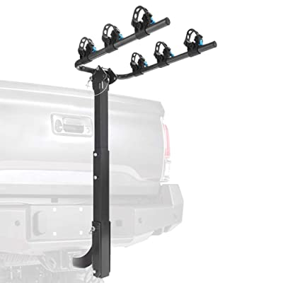 MICTUNING Hitch Mounted Bike Rack - Deluxe 3-Bi...
