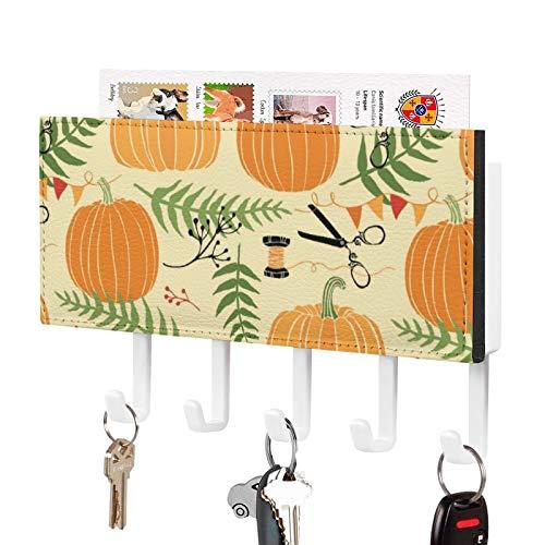 Soporte de pared para llaves organizador, diseño botánico