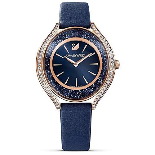 Swarovski Women's Crystalline Aura 35.5mm Leather Band Quartz Watch 5519447