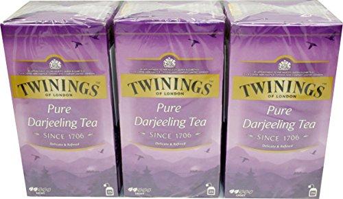 Twinings of London Pure Darjeeling Tea 3 x 25 Teebeutel Schwarztee