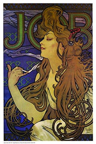 Vintage-Poster, Motiv: Alphonse Mucha, 61 x 91 cm