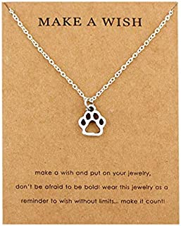 HHDYGASRW Infinity Love Cute Print Huellas Live Love Life Rescue Cat Mom Dog Necklaces