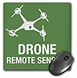 3dRose Big Green Drone Flying with Remote Sensing Mouse Pad (mp_179895_1)