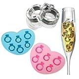 Silikon Eiswürfelform Eiswürfel Eisform f.Eiswürfelbereiter Eiswürfelschale Ring Form in Farben zufaellig versand