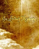 In Loving Memory: 8' X 10' - 2 Column White Paper - Funeral Guest Book, Memorial Service, Sign in Book