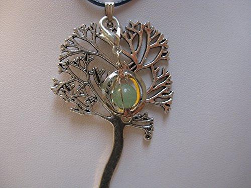 Natural mente – Pendentif Arbre de Vie, la pierre + 1 Chakra, pendentif pour collier, amulette, arbre de vie, bande plastique incluse, pierres précieuses, n ° 163
