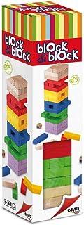 Cayro - Torre de Madera Block & Block Colores - Juego de