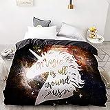 BEDSETAAA 3D Printing Bettbezug, Kinder Kind Baby Quilt/Decke Fall, warm und weich Cartoon Bettwäsche, Bettwäsche Cute Stars 155x215cm
