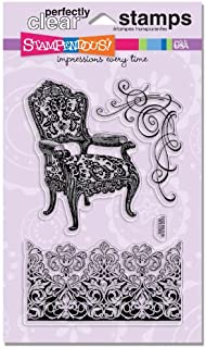 STAMPENDOUS Perfectly Clear Stamp Set, Damask Chair Image
