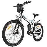 """BIKFUN 26"""" Bicicletta Elettrica Pieghevole, 250W Bici Elettriche, Batteria 36V 8Ah, Cambio Shimano 21..."""