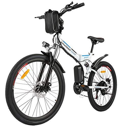 BIKFUN Bicicleta Eléctrica Plegable, 26