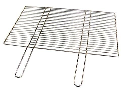 Grillclub Edelstahl Grillrost 60 x 40 cm mit festen Handgriffen nur 12 mm lichter Stababstand Qualitätsedelstahl V2A