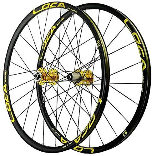 Ruedas Bicicleta llantas MTB Bicicletas de ruedas de 26 pulgadas, de doble pared de aleación de magnesio 24 Agujero rodamientos sellados de uñas 6 del freno de disco MTB Ruedas 7/8/9/10/11 velocidad