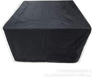家具ダストカバー210Dオックスフォード布テーブルと椅子カバーインテリアシルバーコーティング防水カバー家具レインクロスガーデンガーデン屋外 B10/23 (Color : Black, Size : K)