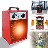 Calefactor eléctrico portátil portátil de Aufun, calefactor portátil con 3 niveles de calor para taller, camping, garaje 5KW