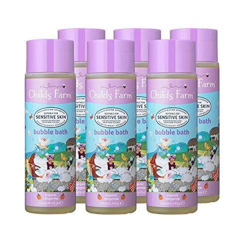 Childs Farm   Kids Bubble Bath   Organic Tangerine   Sensitive Skin   Naturally Derived Ingredients   250ml Pack of 6