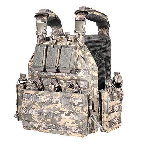 vAv YAKEDA Outdoor Tactical Military Vest Airsof Vest for Men (ACU)