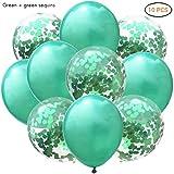 Phayee Konfetti Ballon, 10pcs 12-Zoll-Konfetti-Pailletten-Latex-Ballone Transparente Ballone für...