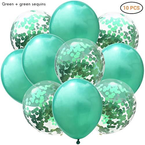 Phayee Confetti ballon, 10 stuks 12 inch confetti-pailletten-latexballon, transparante ballonnen voor bruiloft, meisjes, kinderen, verjaardag, feestdecoratie