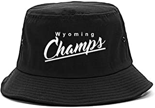 WY Wyoming Champs Champions State Script Bucket Hat