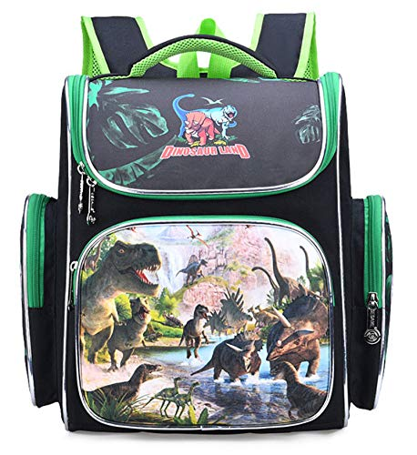 Dinosaur backpacks, cute school bags for primary school students, waterproof and wear-resistant lightweight large-capacity backpacks for students, hard shell backpacks (green)