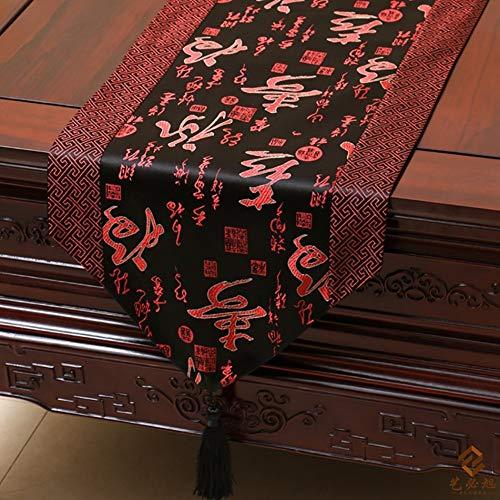 XQY Home Tischdecke, rechteckige Tischdecke, Tischdecke für Hotelrestaurants, neoklassizistisches Tischläufer-Tischkissen aus Brokat mit Tischset-Bestnote