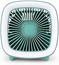 HUI JIN Mini ventilateur portatif, double usage pour ventilateur de bureau, ventilateur d'extérieur, ventilateur de refroi...