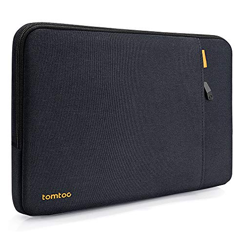 "tomtoc 14"" Funda Protectora de 360° para 15"" MacBook Pro with Touch Bar A1990 A1707 / 14"" ThinkPad Chromebook, TECLAST F7 Plus Laptop 14,1"", 15"" Surface Laptop 3, Bolsillo de Accesorios, Azúl Negro"