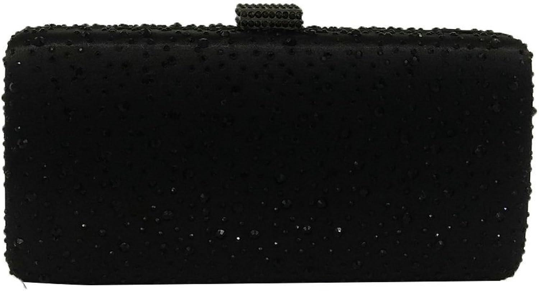 Elegant Women Crystal Clutch Evening Bags Wedding Cocktail Box Handbag Purse