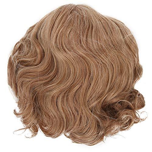 Charmante natürliche gewellte Haarperücken, kurze Perücke für Frauen und Mädchen Goldbraune Mischfarbenperücken für das tägliche Rollenspiel