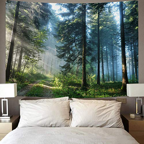 Urblapow Forest Tapestry Wall Nature Decor Tapestry Wall Hanging Tree Theme Wall Tapestry for Bedroom Living Room (82