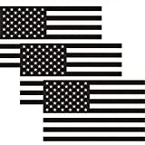 CREATRILL Reflective Subdued American Flag Sticker 3' X 5' Tactical Military Flag USA Decal Great for JEE, Ford, Chevy or Hard Hat, Car Vinyl Window Bumper Decal Sticker (3-Pack)