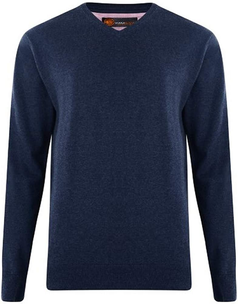 Kam V-Neck LS Knit (Kbs55), 4 Colour Options in Size 2XL to 8XL