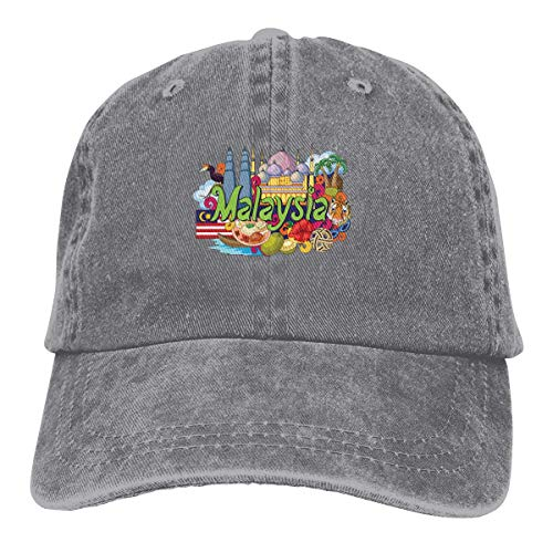 Loto de la fragancia de la hoja de Malasia Sombrero Unisex Elegante Deportes Ajustable Cowboy Cap Gorra de béisbol