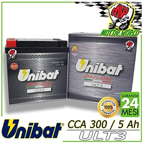 ULT3 Batteria ioni di LiTio 24 Mesi di Garanzia 300 CCA cod. YTX14 YTX14L-BS YTX14AH-BS YTX14AHL-BS YTX14H-BS YTX14AHL-BS YB14L-B2 YB14L-A(1)(2)-SM 12N14-3A-SM