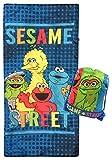 Sesame Street Slumber Sack - Cozy & Warm Kids Lightweight Slumber Bag/Sleeping Bag - Featuring Elmo, Cookie Monster, Big Bird, & Oscar The Grouch (Official Sesame Street Product)